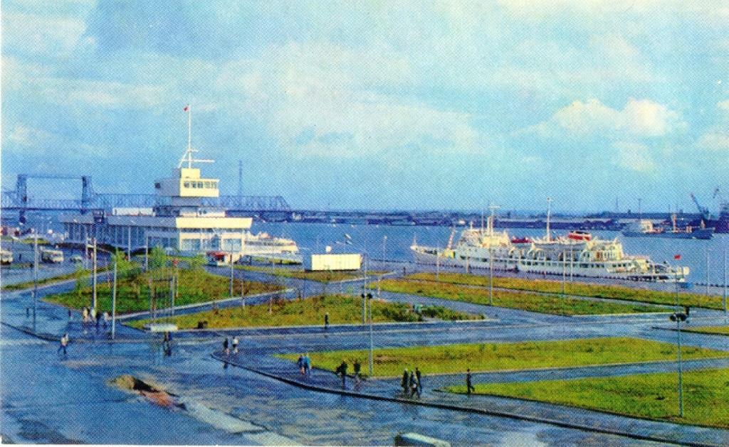 Архангельск. Речной (морской) вокзал.1975.